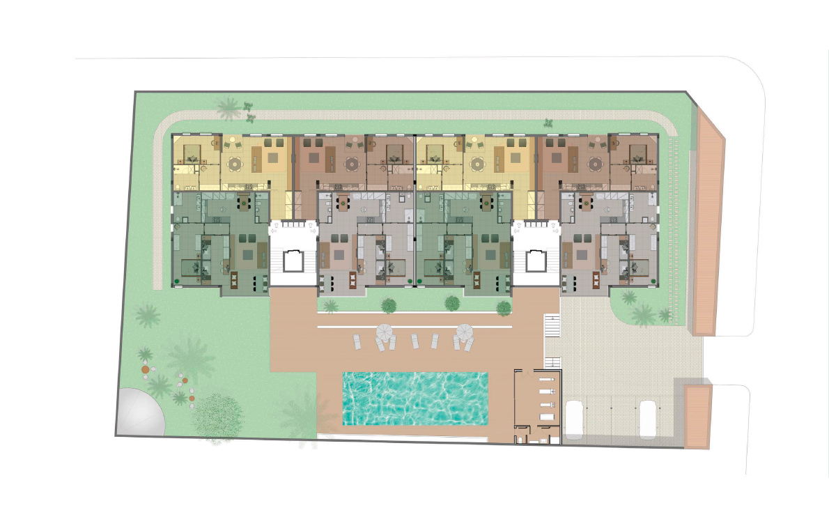 Second floor and third floor typical plan
