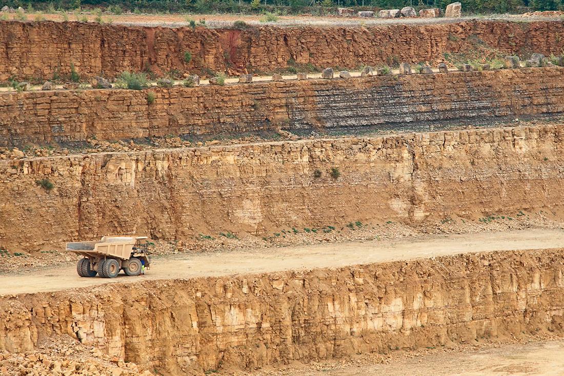 Open-pit quarry