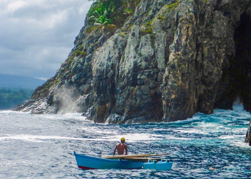 Fishermen off Santana Islet